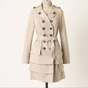 Idra Two Paths Trench Coat Anthropologie 8